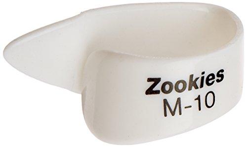 Dunlop Z9002M10 Zookies Thumbpicks, White, Medium 10⁰, 12/Bag (Dunlop Zookies Thumb Picks)