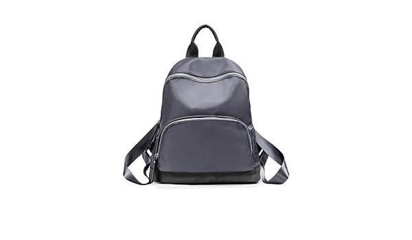 c8ea643b85 ... Unisex Casual   Nylon Water Resistant Rucksack  Daypack School Bag   Laptop Backpack Travel DaypackStylish pool color travel double shoulder  bag Female