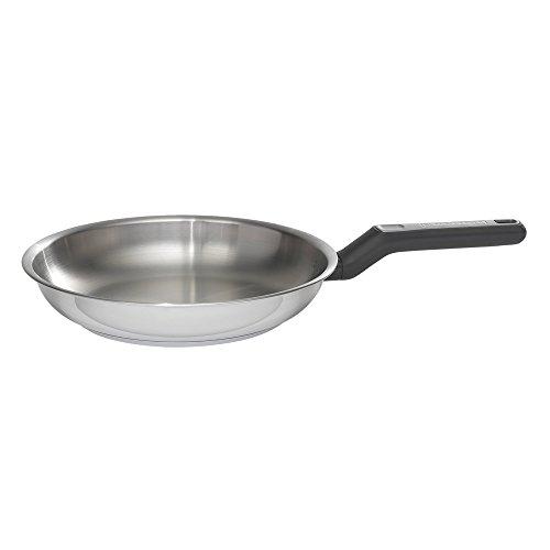 "BLACK+DECKER 83381 Durable Stainless Steel Fry Pan, 10"", Silver"