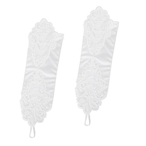 満足させる効率的巧みな手袋 ウェディンググローブ ブライダル手袋 ネイル手袋 美しい 花嫁 ウエディング パーティ 結婚式 花嫁用品 28cm アイボリー