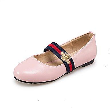 las comodidad casual lazo elegante pisos blanco mujeres invierno verano sintética Heel zapatos y piel de y de vestido oficina blanco Chunky otoño soporte negro Cómodo rosa azul carrera primavera rojo ZRYqg