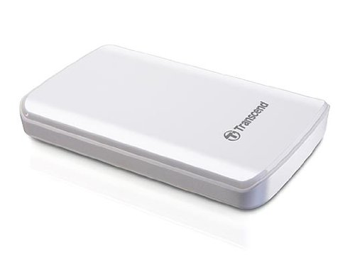 Transcend Information 1 TB 2.5-Inch USB 3.0 Super Speed Portable External Hard Drive - White (TS1TSJ25D3W)