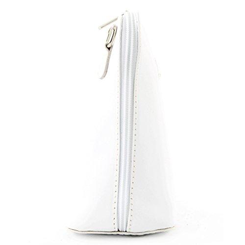 sac sac bandoulière cuir Weiß ital à de Sac Ville petites modamoda en T94 dames vachette qMFPKp