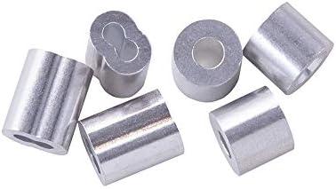 200 Stück Aluminium Crimps Doppelrohr Crimphülsen 0,8 mm
