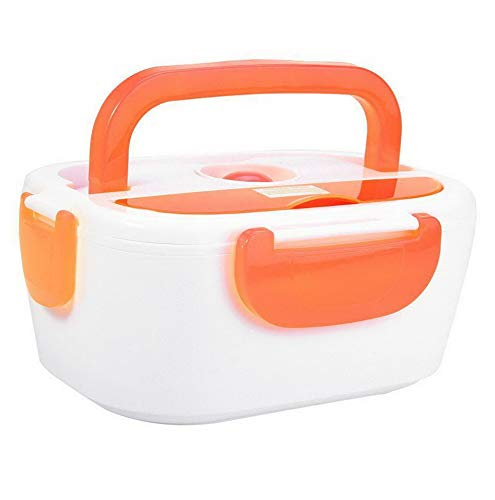 Mikash 40W 110/220V Large Electric Heating Lunch Box Food Container Home Office Use CO | Model FDCNTNR - 930 | US Plug 110V (Orange)