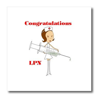 Florene Congratulations For Careers - Image of Congratulations for New LPN - 6x6 Iron on Heat Transfer for White Material (ht_240695_2)
