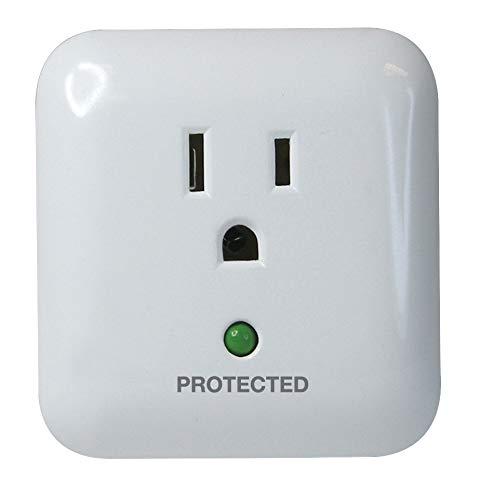 Prime PB802105 1 Outlet 900 Joule Surge Tap, End of Service Alarm, White ()