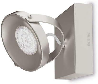 color gris 1 luz LED Philips myLiving Dender iluminaci/ón interior Barra de focos cepillado luz blanca c/álida IP20