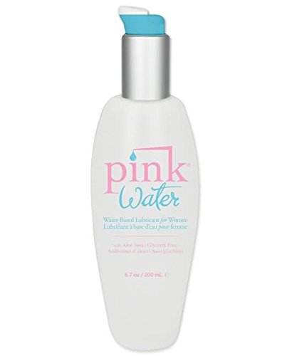 Pink Water Based Personal Lube Lubricant Pump Bottles for Women : Size 6.7 Oz. Or 200 Ml