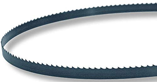 150 in. Length Band Saw Blades Made in USA with USA Carbon Steel Flex back Hook Tooth Available in (3/8 in. Width, 10 TPI) ()