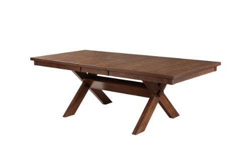 (Roundhill Furniture T713 Karven Acacia Solid Wood Butterfly Leaf Dining Table,)