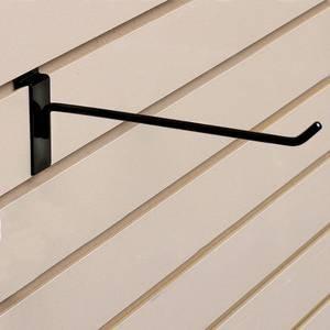 Only Garment Racks #9805B - (24PC) Commercial Deluxe Slat Wall Hook, 12'', Black (Pack of 24)