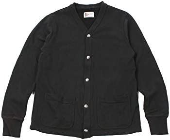 V SNAP CARDIGAN 12oz LT WEIGHT FRENCH TERRY - BLACK