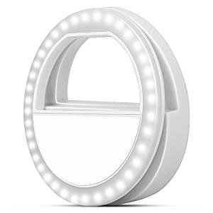 Lumi Ring - Selfie Ring Light for Smart Phones and Tablets, White - iPhone 4, 4s, 5, 5s, 6, 6 Plus, 8, X, Samsung, Android (Glow In The Dark Skin Iphone 4s)