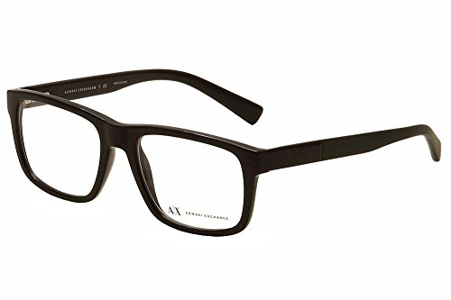 A|X Armani Exchange AX3025 Eyeglass Frames 8178-53 - Black AX3025-8178-53