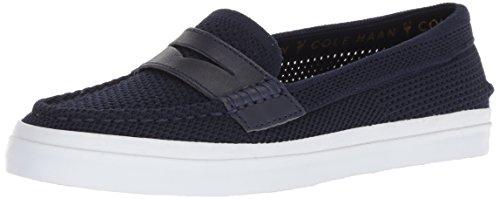 (Cole Haan Women's Pinch Weekender LX Stitchlite Loafer Flat, Navy/White, 6 B US)