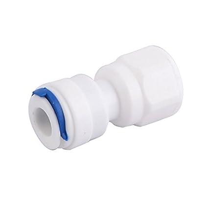 DealMux Plastic Purificador de Água Adaptador de montagem Conector Branco Azul Tópico Dia 1 / 4BSP