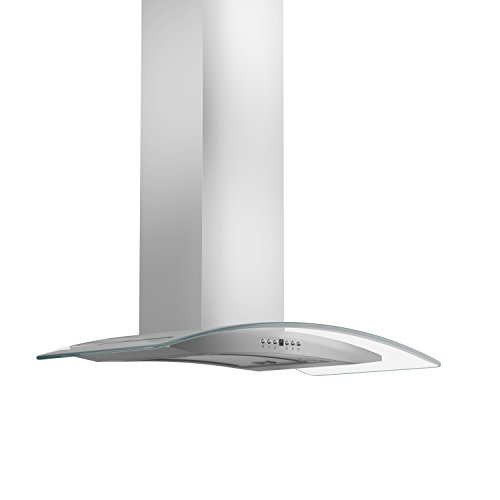 ZLINE 30 in. 400 CFM Wall Mount Range Hood in Stainless Steel & Glass (KN4-30-400)