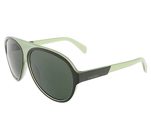 Diesel DL0138/S 98N Moss Green Teardrop Aviator (Diesel Plastic Sunglasses)