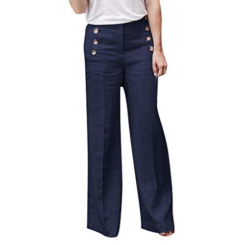 a OL Larga Unita 4XL Cinque Ufficio Gamba Donna Blu Dritta Gamba S Pantaloni Elegante Pantaloni Larghi Moda Colori Pantaloni Tinta Casuale Leggings T5Yx8q6TwR