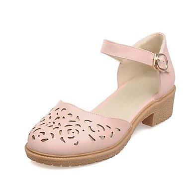 CN40 amp;Amp; EU39 Low Zormey Shoes Two Dress 5 Beige US8 5 Toe Pink UK6 Heel Heels Women'S Piece White Round D'Orsay qxpRSxXwT