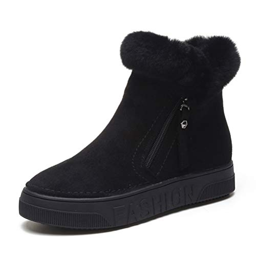 Peluche Winter Zipper Neve Outdoor Stivaletti Da Scarpe Femminile Casual Piatte Indoor Black Sneakers In Donna fpZwIRq