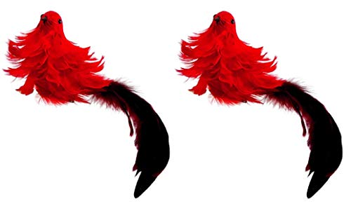 Pair Christmas Cardinal with Long-Tail Feathers Buyers' Choice of 14