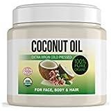 Olio di Cocco Extra Vergine spremuto a freddo per il corpo, capelli, unghie, Viso e cuticole, Latte idratante di cocco 100% Bio 500ml