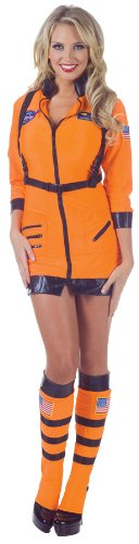 Adult Orange Astronaut Costumes (Underwraps Women's Cosmic, Orange, X-Large)