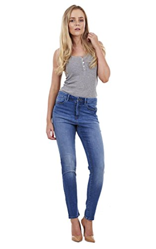 Fit Stretch Cotton Skinny Womens Ladies Slim Blue Jeans Denim Quality Medium wRnFX7q8xg