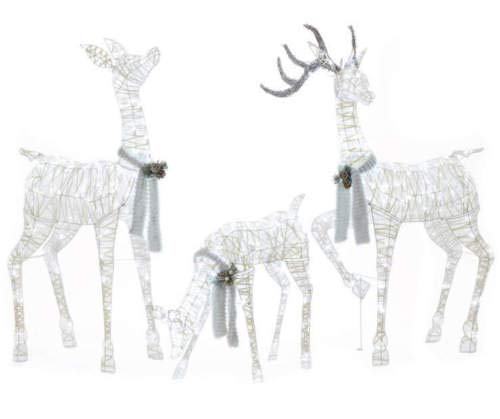 Outdoor Lighted Deer Family in US - 4