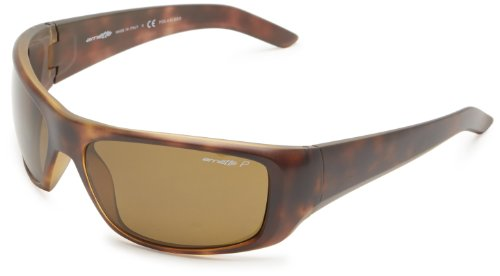 Arnette mens Hot Shot AN4182-06  Fuzzy Havana/Polarized Brown Lens