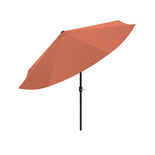 Pure Garden Patio Umbrella with Easy Crank and Auto Tilt Outdoor Table Umbrella for Deck, Balcony, Porch, Backyard, Poolside, 10 ft (Terracotta)
