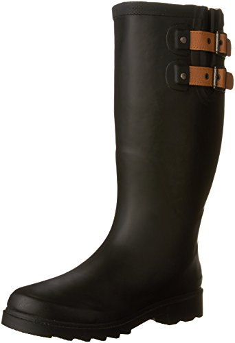 Chooka Boots Rain Boots - Chooka Women's Tall Rain Boot, Black/Matte, 10 M US