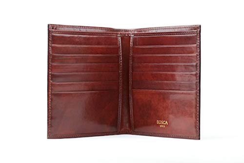 - Bosca Men's 12-Pocket Credit Wallet, Dark Brown