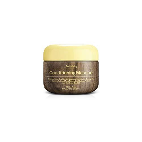 Sun Bum Revitalizing Deep Conditioning Hair Masque, 6 oz Tub, 1 Count, Hydrating Conditioner, Frizz Control, Paraben Free, Gluten Free, Vegan