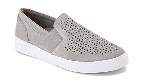 Vionic Women's Splendid Kani Slip-on Walking Shoes - Ladies Athleisure Sneakers with Concealed Orthotic Arch Support Light Grey 8 M US