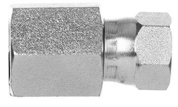 NPTF Female Pipe x 37° JIC Female Swivel Nut Adapter | 6506-04-04 ()