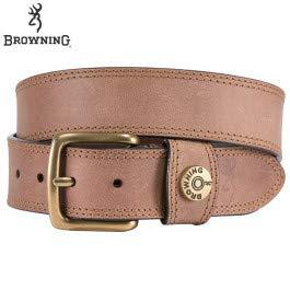 Browning Leather Slug Belt | Tan Brown | 38 (Mens Browning Brown Leather Belt)