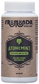 Fromonda AtoneMint Talc Free Body Powder with Menthol - 100% Natural. Peppermint & Tea Tree Scent, Travel Size