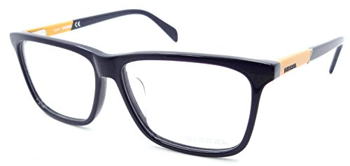 Diesel Rx Eyeglasses Frames DL5131-F 090 59-14-150 Dark Blue / Orange Asian Fit