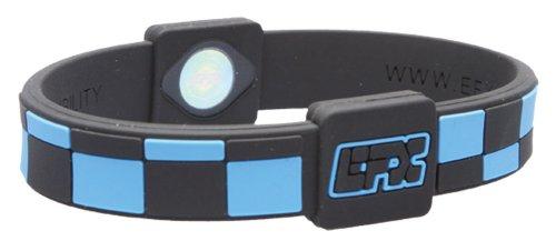 EFX silicone sport Bracelet, 20,3cm, nero/azzurro Checker