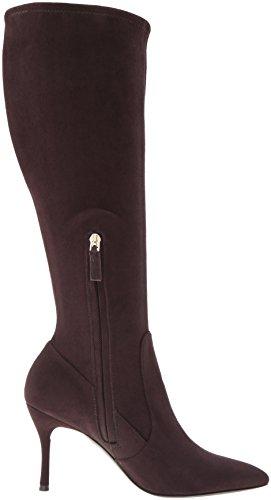 Nine West Women's Calla-Wide Fabric Knee-High Boot Dark Brown ATSES