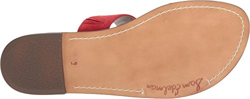 Red Women's Sandal Leather Suede Slide Sam Kid Gala Edelman TOnq5xXR