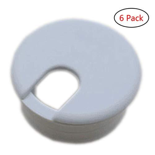 Xntun 6 Pack 1-3/8 Inch Desk Grommet, Plastic