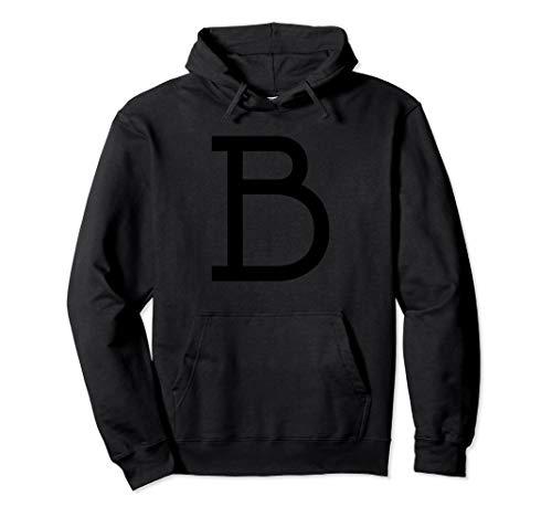 B Letter Alphabet Costume Monogram Varsity Fun T-Shirt -