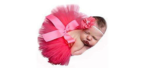 Matissa Tutu kleding voor pasgeborenen met bloemenmotief, rood