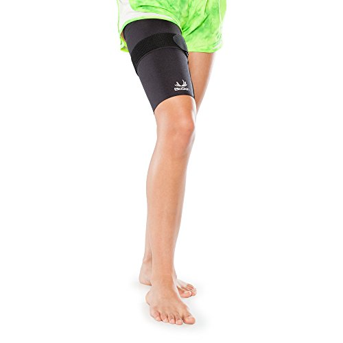Medical Grade Compression Sleeve with Additional, Targeted Compression Cinch Strap to Relieve Pain from Quad and Hamstring Strains and Injuries - Thigh Skin with Cinch by BioSkin (XLarge) by BioSkin (Image #7)