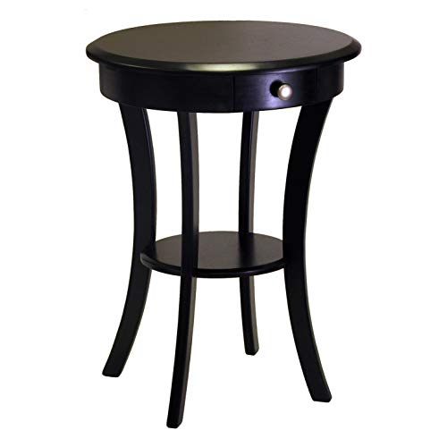 Winsome Wood 20227 Sasha Accent Table, Black (Set Beechwood Bedroom)
