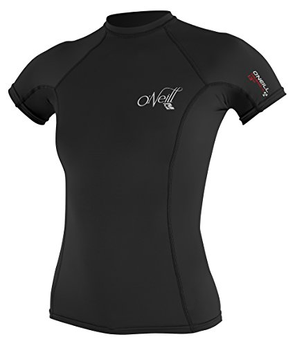O'Neill Wetsuits Damen Rash Guard Thermo-X Short Sleeve Crew, Black, M, 4618-002